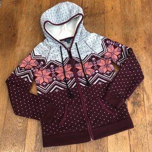 AEO Zip Up Hooded Sweater size Medium